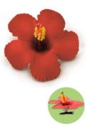 Isle Heritage Hair Clip Foam Flower Hibiscus Red