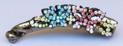 Banana Clip with Butterflies - Beautiful Multi-Colour Crystals