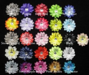 ".(12).Tropical Lily Flower Clips-3.5""-Choose Colour!"