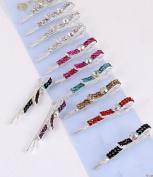 Fashion Hair Accessory ~ Multi Colours Rhinestones Hair Clip Set of 12
