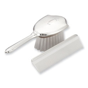 Sterling Silver Gift Boxed Girls Comb and Brush Set