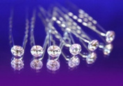 (Ship From USA) (Pack of 6 pcs) Crystal Rhinestones Hair Pins