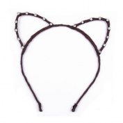 Lovely Party Rhinestone Cat Ear Hair Band Hair-hoop