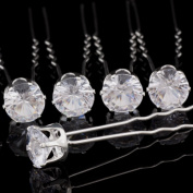 Catalina Crystal Rhinestone Hair Pin Wedding Bridal Accessories Pack of 20pcs