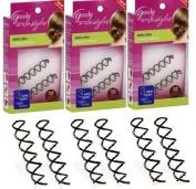 3 Packs Goody Simple Styles Spin Pin - Brunette Dark Hair Six (6) Pins Total