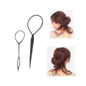 Vktech 1 PCS Portable Disc Hair Wear Hair Sticks Two Sets UI