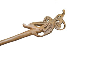 Handmade Sandal Wood Carved Butterfly Wooden Hair Sticks