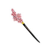 China Pink Flower Hair Sticks