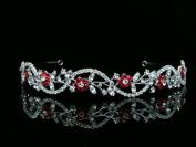 Bridal Flower Rhinestones Crystal Wedding Headband Tiara