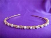 Gold Pearl Headband