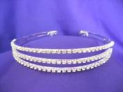 Rhinestone Wedding Tiara Bun wrap Headband