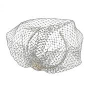 Henriette Ivory Pearl & Rhinestone Bird Cage Veil Wedding Bridal Tiara Headband