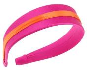 L. Erickson USA Silk Striped 3.8cm Headband - Silk Charmeuse