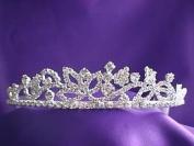 Silver Floral Tiara