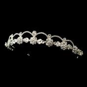 Rebecca Silver Rhinestone Headpiece Wedding Bridal Tiara Headband