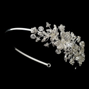 Dalia Rhinestone Butterfly Side Accented Wedding Bridal Tiara Headband