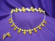 Topaz Crystal D'Italia Tiara and necklace Set