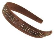 L. Erickson USA 2.5cm Headband with Crystal Chain