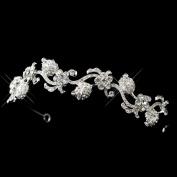 Martine Rhinestone Floral Rose Bud Swirl Wedding Bridal Tiara Headband