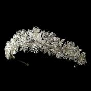Sharon Rhinestone. Crystal Bead Floral Wedding Bridal Tiara Headband