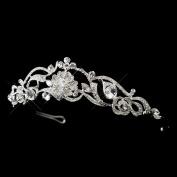 Larissa Rhinestone Floral Flower Swirl Wedding Bridal Tiara Headband