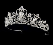 Frederique Silver Plated Royal Wedding Bridal Tiara