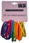 HALSA Professional 18 No Metal Neon Coloured Hair Elastics