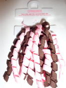 Ponytail Holder Corker Pink Brown Ribbon By Gymboree