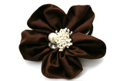 Elegant Satin Flower Ponytail Holder