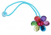 Flower Gem Ponytail Holders 2Pc Set