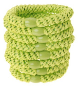 L. Erickson Ponytail Holders - Set of Eight - Lime