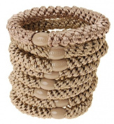 L. Erickson Ponytail Holders - Set of Eight - Camel