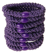 L. Erickson Ponytail Holders - Set of Eight - Purple
