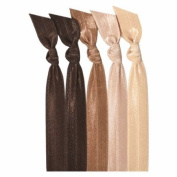 Emi-Jay Hair Tie Collection - Brown Ombre 5 pack
