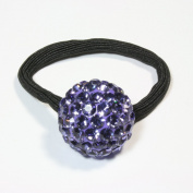 Purple colour Austrain Crystal Ponytail Holder
