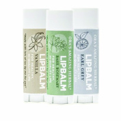 Ora's Amazing Herbal Lip Balm Earl Grey/Vanilla/Basil Rosemary 3 Pak