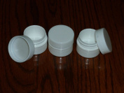 25 NEW Empty .25 oz (7ml) 1/4 oz WHITE LIP BALM Carmex Cosmetic Cream Jars containers