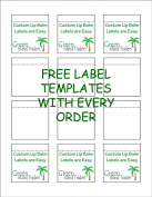 Customizable Lip Balm Labels | 20 Sheets | 240 Labels