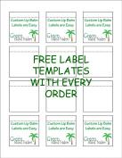 Customizable Lip Balm Labels   20 Sheets   240 Labels