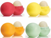 EOS Lip Balm 4 pack Set - Summer Fruit, Lemon Drop, Tangerine, Honeydew
