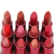 Lot 12 pcs 12 Colours Nude/Peachy/Pink/Red Lipstick Lip Gloss Lip Balm Make Up Set