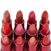 Lot 12 pcs 12 Colours Nude/Peachy/Pink/Red Lipstick Lip Gloss Lip Balm Make Up Set