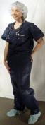 2619356 PT# 380L Pants Scrub PP Unisex Dark Blue Lg Non-Reversible 2Pckt 10/Bg Made by Dukal Corporation