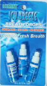 Icy Breeze Breath Drops Instant Fresh Breath, Icymint 3.2 ml, 3pack