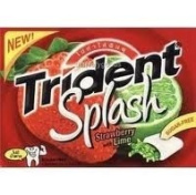 Trident Splash Strawberry Whit Lime Flavour Sugar Free Gum : 12 Pack