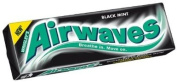 Wrigley Airwaves Black Mint Menthol Sugar Free Chewing Gum 10 Pellets