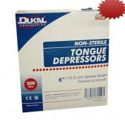 Tongue Depressors, Non-Sterile, Adult, 15cm x1.9cm , 500/BX