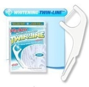 Plackers Twin Line Whitening Floss Picks-75 ct