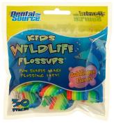 Kids Wildlife Flossup Flossers Bubblegum Flavour