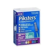 PIKSTERS - for cleaning between teeth-Size 6 (Green)- 40Pk